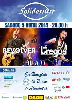 Concierto de Revólver + Tregua + Ruta 77 en A Coruña. Ocio en Galicia
