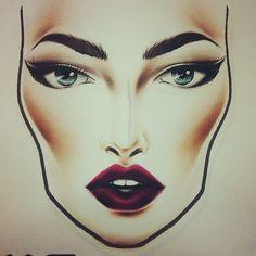 Face Chart Source: Vintage Hoochie Tumblr