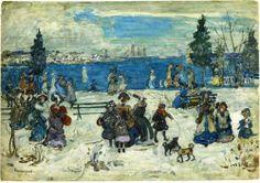 April Snow, Salem; Maurice Prendergast; 1907.