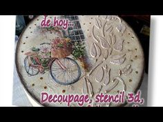 Decoupage Table, Decoupage Art, Diy And Crafts, Arts And Crafts, Paper Crafts, Handmade Clocks, Foto Transfer, Decoupage Tutorial, Jewellery Boxes