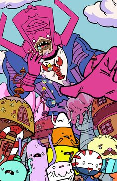 The goddamn Batman and other comic characters invade Adventure Time
