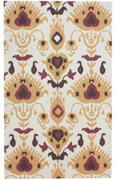 plymouth ikat beige rug - Rugs USA, again i have issues with white rugs BUT i want them.  oh yes.