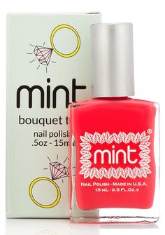 Mint Nail Polish in Bouquet Toss is a perfect pedicure color for a Summer bride.