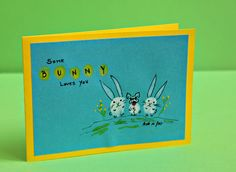 French bulldog Easter card, funny and unique by BoubouleArt on Etsy