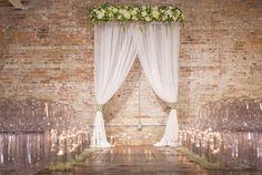 Modern wedding backdrop