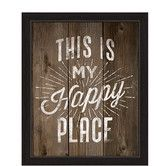 """Found it at AllModern - """"This Is My Happy Place"""" Framed Textual Art on Canvas"""