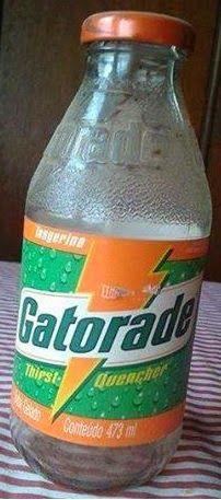 Você se lembra?: Garrafa de vidro Gatorade