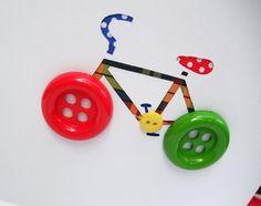 Fahrrad Karte mit Knopf Rädern Bike von Nikelcards auf Etsy