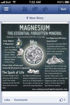 Magnesium-The essential forgotten mineral 	 --  #vitamins #nutrition #health #supplements #inflammation #cure #b12 #wellness #fitness  #coq10 #probiotic #herbs #antioxidant #weightloss   www.bewellandwealthy.org