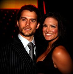 Henry Cavill with girlfriend Gina Carano.