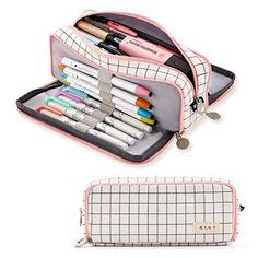 school supplies for teen girls Large Pencil Case, Cute Pencil Case, Teen Pencil Case, Pencil Cases For Girls, Cute Pencil Pouches, Pencil Bags, School Pencil Case, Cool School Supplies, Korean School Supplies