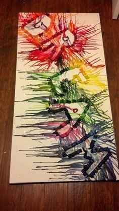 Crayon melting project!