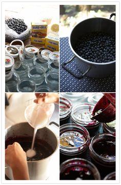 Blueberry Jam recipe and cute favor idea!