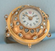 Vintage Watches Collection : Diamond ring watch - Bogoff - Watches Topia - Watches: Best Lists, Trends & the Latest Styles Ring Watch, Bracelet Watch, Cartier, Pocket Watch Antique, Vintage Diamond Rings, High Jewelry, Jewellery, Antique Engagement Rings, Vintage Watches