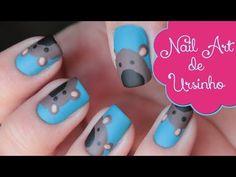 Nail Art de Ursinhos | Teddy Bear Nail Art