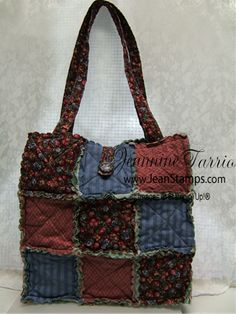Big Shot Rag Bag Tote made with Stampin' Up!'s Scallop Square Die (need to make one of these someday soon!)