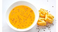 Potato and Carrot Caraway Flavored Creamy Soup | gourmandelle.com