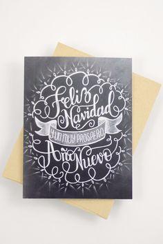 Card - Feliz Navidad y un prospero Año Nuevo - Spanish Navidad                                                                                                                                                                                 Más