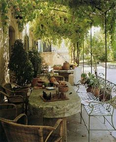 See garden furniture - SUCH AN INCREDIBLY GORGEOUS PLACE, IN WHICH TO ENTERTAIN FRIENDS & FAMILY, UNDER THE BEAUTIFUL VINES, WITH GLORIOUS FURNISHINGS & WONDERFUL SURROUNDS 🍷
