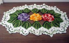 Danda Crochet: Trilho de mesa Duna I