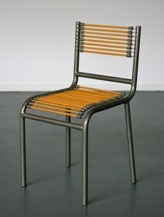 Sandows Chair designed by René Herbst | From a unique collection of antique and modern side chairs at https://www.1stdibs.com/furniture/seating/side-chairs/