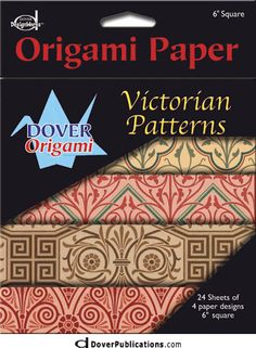 "Victorian Patterns 6"" Origami Paper 6-Pack"