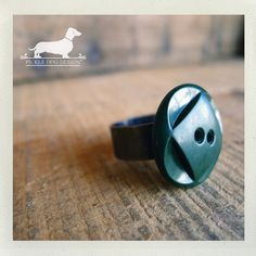 Square Peg in a Round Hole Adjustable Ring  by PickleDogDesign, $6.50
