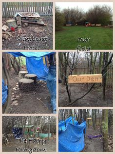 Some other parts of our outdoor area- dens move with children's interests :)