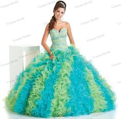 Find More Quinceanera Dresses Information about Fluffy Sweetheart Corset Back Two Color Floor Length Ruffled Colorful Quinceanera Dresses With Crystals Free Shipping DS32,High Quality dress super,China dress ruched Suppliers, Cheap dresses parties from Viman's Bridal on Aliexpress.com