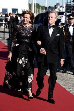 Prince Leopold (Poldi) and his wife Princess Ursula, Uschi of Bayern (Bavaria) arrive for the Pre-Wedding Dinner for Prince Carl Philip and Sofia Hellqvist on June 12, 2015 in Stockholm, Sweden.