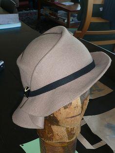 Draped Felt Hat | by Devereaux Dane