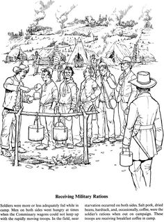 a soldiers life in the civil war coloring page 2 of 5 - American Civil War Coloring Pages