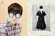 shirt LIBERTINE LIBERTINE; sunglasses QUAY. right: top MATTHEW MILLER; shorts SONGZIO.