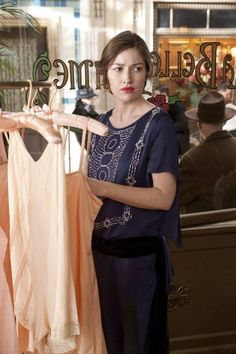 Margaret in the clothing shop