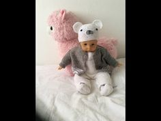 tuto ensemble bebe gris et blanc #2 - YouTube Crochet, Teddy Bear, Make It Yourself, Youtube, France, Baby, Amigurumi, Knitted Doll Patterns, Baby Bunnies