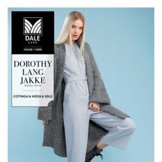 DG350-12 Dorothy lang jakke – Dale Garn Tights, Leggings, Jumpers, Duster Coat, Fashion, Tunic, Threading, Navy Tights, Moda