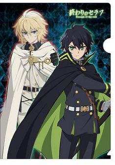"""Seraph of the End animated TV series - """"Kyarabyi TV Clear File"""" Release Date: around mid-April Price: ¥ 350 + tax Studio: Corporation Movic"""