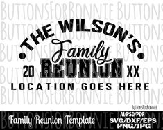 Family Reunion, athletic, family shirt, reunion shirt, svg, template, cutting file, family reunion svg, silhouette, family shirt svg, cricut by ButtonsForBonnie on Etsy