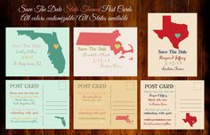 Items similar to Save The Date State Themed Post Cards, Custom Save The Dates, State Pride Save The Date Cards or Magnets,Custom State Love Wedding Post Card on Etsy Save The Date Postcards, Save The Date Cards, Save The Date Designs, Just Engaged, Wedding Save The Dates, Wedding Website, Simple Weddings, All The Colors, Wedding Engagement