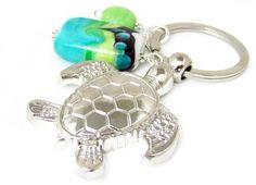 Sea Turtle Keychain Seaturtle Key Chain by EarthlieTreasures