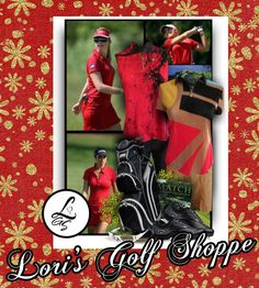 Check out this fabulous red golf outfit! #lorisgolfshoppe