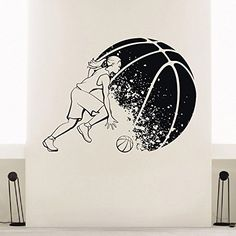 Wall Decal Vinyl Sticker Gym Sport Basketball Player Decor Sb194 ElegantWallDecals http://www.amazon.com/dp/B011L7G0X6/ref=cm_sw_r_pi_dp_zMiYvb1MZKHQJ
