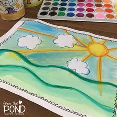 FREE! Sunrise Directed Art Freebie - This free printable will help teach your students how to draw a sunrise. With step-by-step instructions, everyone is sure to find success. | #FromThePond #TeacherTips #TeacherFreebie #Freebie #SummerTheme #SunInTheClassroom