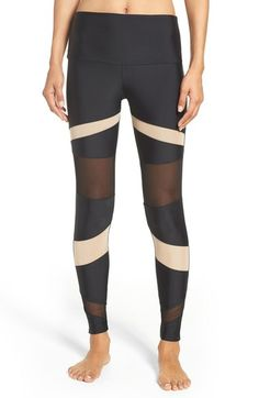 5f34a702678e82 Onzie Mesh Inset Leggings available at #Nordstrom Tight Leggings, Body  Heat, Sports Women