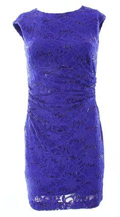 Lauren Ralph Lauren NEW Blue Women 2P Petite Sequin Lace Sheath Dress $174