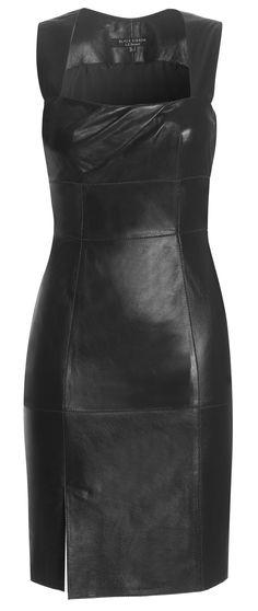 L.K. Bennett bodycon leather dress