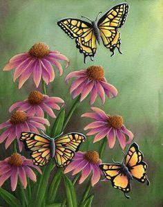 Purple coneflower painting by Arkansas artist Sheri Hart