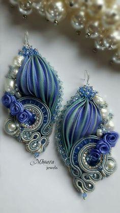 ' like a Princess ' shibori silk earrings designed by Mhoara Jewels