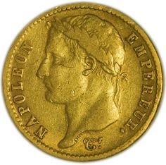French Coins, Gold Bullion, Gold Coins, Regency, 19th Century, Empire, Costume, France, History