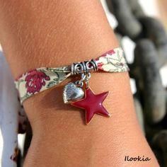 Bracelet liberty coeur & étoile: